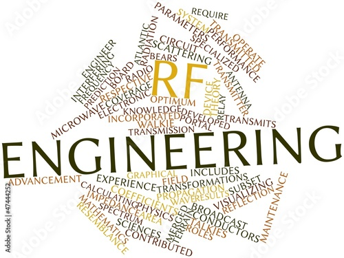 Word cloud for RF engineering