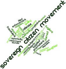 Word cloud for Sovereign citizen movement