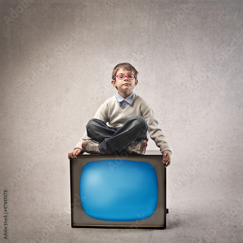 Child on the TV