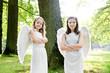 zwei Engel im Park