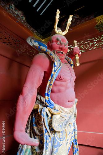 Nio Benevolent King Sculpture in Nikko, Japan