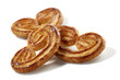 puff pastry palmiers isolated