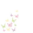 Bunte Schmetterlinge fliegen
