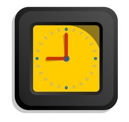 Relógio Preto e Amarelo
