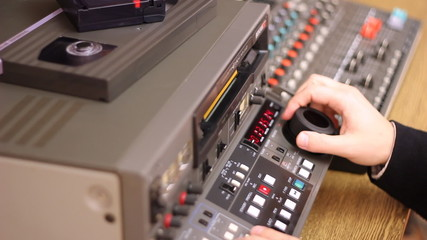 Editor working on Betacam Sp recorder