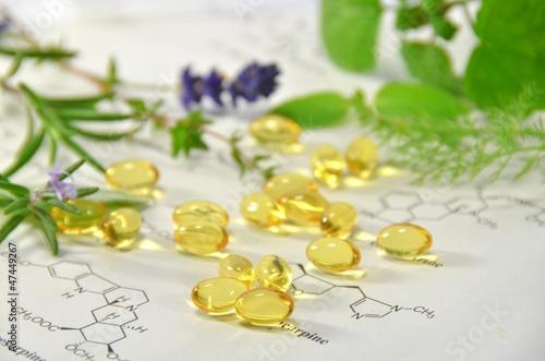 Leinwanddruck Bild natural supplement