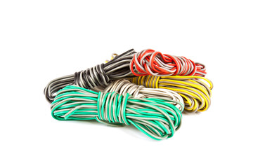 Colored wire bundles