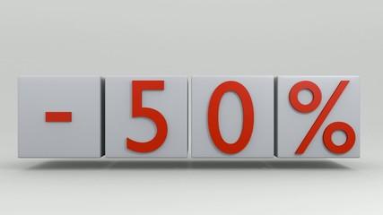 Sale 50 percent discount