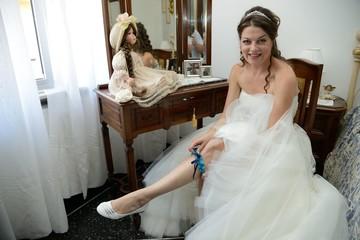 Sposa con la giarrettiera