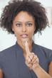 African American Woman Businesswoman Touchscreen Button