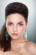 Glamorous Woman Looking - Bright Make-up, Fresh Young Face