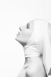 Sorrow. Religion.  Woman Praying - Soul and Spirit