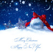 art snow christmas decoration magic lights background