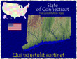 Connecticut USA State map location nickname motto