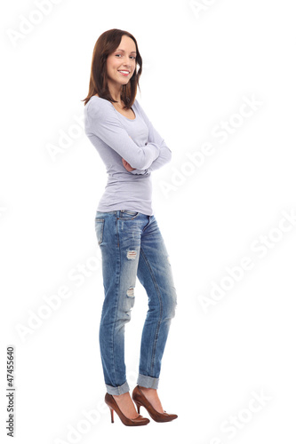 Casual young woman smiling