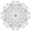 Circle ornament, ornamental round lace