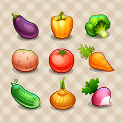 Set of vegetables