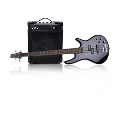 Bassgitarre und Verstärker