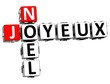 3D Merry Christmas In French Language Crossword