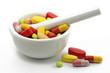 tabletten in mörser