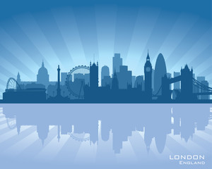 London, England skyline