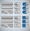 Vector Metallic Buttons and Switchers
