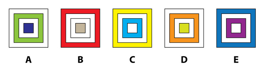 SQUARES MIND GAME ... Which  does not fit in? Answer: B