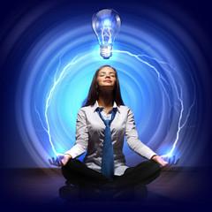 Creativity cocept with light bulb