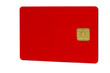 Leinwandbild Motiv Chipkarte rot