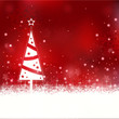 Beautiful soft red Christmas background with Christmas tree