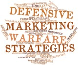 Word cloud for Defensive marketing warfare strategies