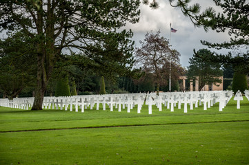 American military cemetery in Normandy