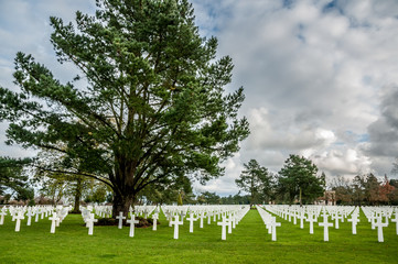 American military cemetery of the landing in Normandy on D Day