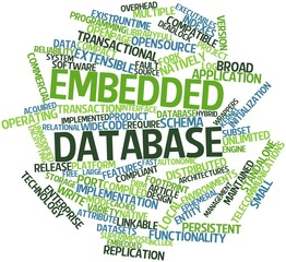 Word cloud for Embedded database