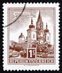 Postage stamp Austria 1957 Mariazell