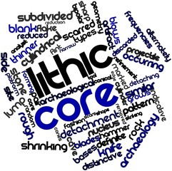 Word cloud for Lithic core