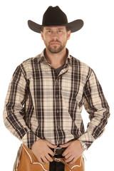 cowboy hold belt black hat