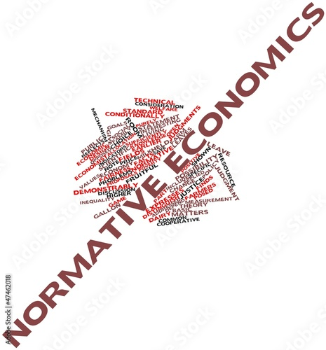 Word cloud for Normative economics