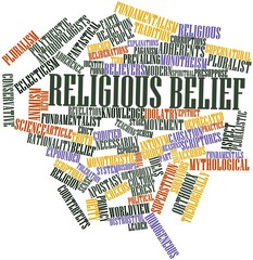 Word cloud for Religious belief