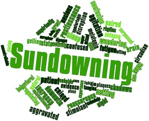 Word cloud for Sundowning