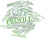 Word cloud for User profile