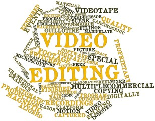 Word cloud for Video editing