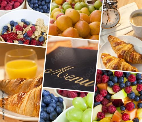 Montage Menu & Fresh Healthy Diet Food Lifestyle