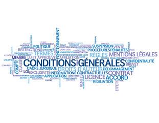 "Nuage de Tags ""CONDITIONS GENERALES"" (vente utilisation bouton)"