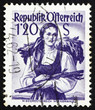 Postage stamp Austria 1949 Woman from Lower Austria, Vienna Wood
