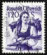 Postage stamp Austria 1949 Woman from Lower Austria, Vienna Wood