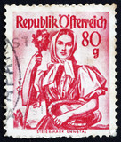 Postage stamp Austria 1949 Woman from Styria, Enns Valley