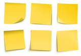 Fototapety Yellow post it notes