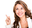 Business woman pointing an idea