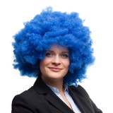 Woman With Blue Afro